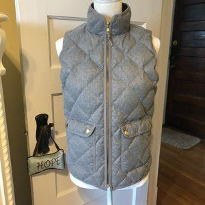 J Crew Small Gray Quilted Down Vest